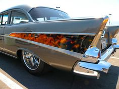 1957 Chevy ... I'm not a huge fan of flame jobs.. unless they're done right. This one is done right. :) ..jb