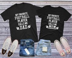 63c8ffb8 Football Mom Shirt, Football Dad Shirt, Football Family Shirts, Matching  Shirts, Couple