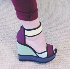 Colorblock wedges. #Pierrehardy'scollection