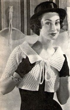 Sale see Shop heading Free pattern Vintage Knitting Pattern Bolero Shrug ...