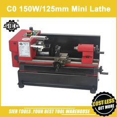 Купить товарC0 mini Lathe/SIEG 150W motor+125mm working length DIY Lathe/brand Mircro metal turning machine http://ali.pub/di6sj