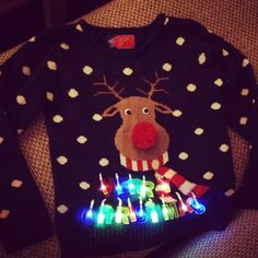 I love Tacky Christmas Jumper Christmas Dress Up, Diy Ugly Christmas Sweater, Tacky Christmas, Christmas And New Year, Christmas Sale, Christmas Clothing, Christmas Jumpers With Lights, Xmas Jumpers, Christmas Vouchers