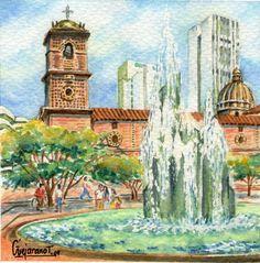 Cali, San Francisco, Bella, Painting, Artists, Water Colors, Pintura, Architecture, Painting Art
