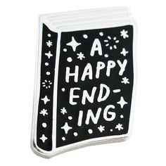 HAPPY ENDING Enamel Pin (36 BRL) ❤ liked on Polyvore featuring jewelry, brooches, evening jewelry, special occasion jewelry, enamel brooch, pin brooch and holiday jewelry