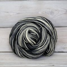 SALE 30% Off - Stella - Hand Dyed Superwash Corriedale Wool Fingering Sock Yarn - Colorway: Snow Camo on Etsy, $12.60