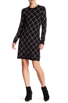 Image of Eliza J Long Sleeve Shift Dress