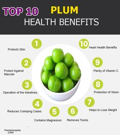Benefits Of Plum Plum is usually green or red, walnut sized. Green plum is sour, red plum is sweet.