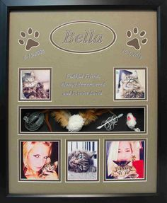 x Pet Memorial Shadow Box Display Frame - Beautifully framed in tan and chocolate matting perfectly matches the beauty of Bella. Dog Shadow Box, Shadow Box Frames, Frame Display, Forever Love, Pet Memorials, Losing A Pet, Your Pet, Gallery Wall, About Me Blog