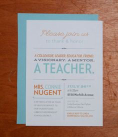Teacher Retirement Party Invitation | Retirement, The o'jays and ...
