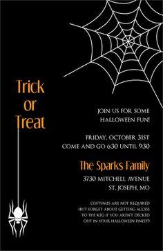 Spooky Fun Halloween Invitations