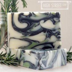 Rosemary Peppermint Charcoal Handmade Soap – High Street Soap