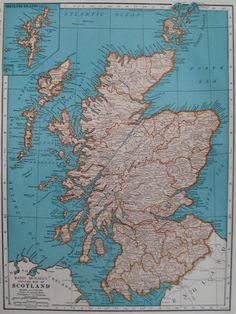 Scotland funny map scotland vintage pinterest scotland funny vintage scotland map 1940s map of scotland very nice antique map from 1944 atlas plaindealing 4933 gumiabroncs Image collections