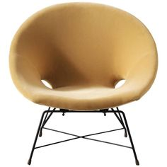 Augusto Bozzi Lounge Chair for Saporiti | From a unique collection of antique and modern lounge chairs at https://www.1stdibs.com/furniture/seating/lounge-chairs/