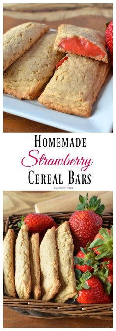 The Dye-free, Real Fruit Version of Cereal Bars - Homemade Strawberry Cereal Bars Recipe – Super Healthy Kids Source by rachorock Fruit Recipes, Baby Food Recipes, Gourmet Recipes, Cereal Recipes, Fruit Snacks, Pork Recipes, Strawberry Cereal, Strawberry Baby, Strawberry Filling