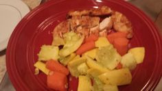 Chicken with squash and carrots