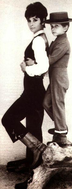 Audrey Hepburn & her son Sean Ferrer,