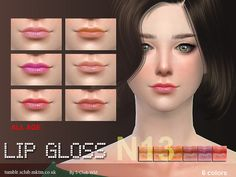 Lipstick for all age, 6 colors in side, enjoy !  Found in TSR Category 'Sims 4 Female Lipstick'