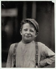 Donald Mallick (child laborer) By Lewis Hine