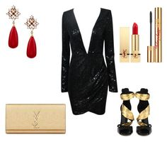 A.A. by pinkcrema on Polyvore featuring polyvore, fashion, style, Giuseppe Zanotti, Yves Saint Laurent and Nordstrom Rack