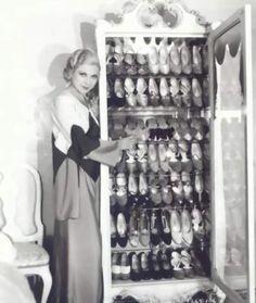 Lilyan Tashman with her shoe closet 1930s
