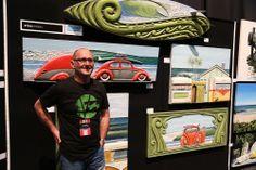 Steve Hoskin - SAW artist NZ Art Show 2013 Artist Wall, Nz Art, Artists, Baseball Cards, Artist