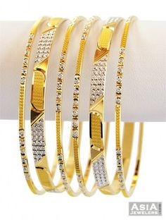 thin gold bangles - Google Search