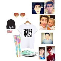 """Nash Grier's eyes!!"" by moco-and-janie on Polyvore"