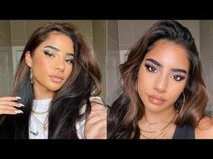 Gorgeous Makeup Tutorial Transformation for Dark Skin Complexion | Makeup Compilations - YouTube Winged Eyeliner Tutorial, Gorgeous Makeup, Dark Skin, Youtube, Beauty, Brown Skin, Beauty Illustration, Youtubers, Youtube Movies