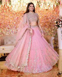 Designer Bridal Lehenga, Pink Bridal Lehenga, Wedding Lehenga Designs, Pink Lehenga, Engagement Dress For Bride, Engagement Gowns, Indian Fashion Dresses, Indian Gowns Dresses, Indian Lehenga