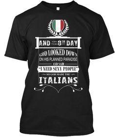 And on the 8th day, God created Italians