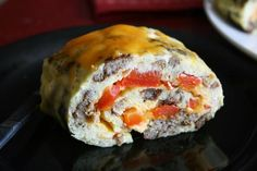 Oven Baked Rolled Omelet. One omelet for the whole family. Easy and delish.