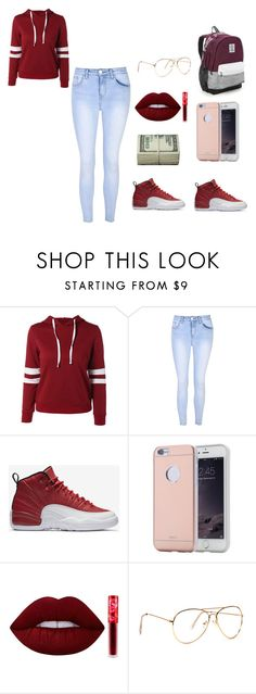 """stay on fleek"" by niah123bestie on Polyvore featuring beauty, Glamorous, NIKE, Lime Crime and Victoria's Secret"