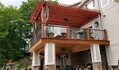 Create more shade on your patio with a retractable canopy. Add a canopy to any full size Pergola Depot pergola kit on our site size up to Diy Pergola, Wood Pergola Kits, Retractable Pergola Canopy, Building A Pergola, Pergola Swing, Wooden Pergola, Outdoor Pergola, Pergola Ideas, Building Plans