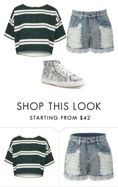 """Untitled #117"" by yadiz-andivan ❤ liked on Polyvore featuring Topshop, LE3NO and Superga"