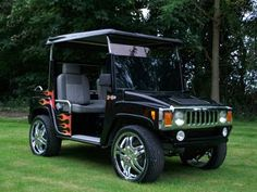 Hummer Golf Cart w/Custom Rims and Paint~