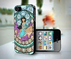 Disney Jasmine Aladin Glass Art design for iPhone 4 or 4s case