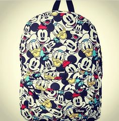Mickey Mouse and Donald Duck backpack
