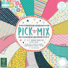 Pick N Mix Premium Paper Pad 12 X 12 Inches 48 Sheets   Hobbycraft