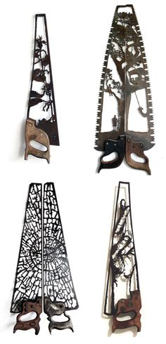 Old farming tools enjoy a second life thanks to one talented sculptor