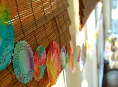 Water coloring doilies! @Kristen Randall I just stole this from your old camp awesome blog.