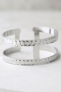 #AdoreWe #lovelulus Lulus I Look to You Silver Cuff Bracelet - AdoreWe.com