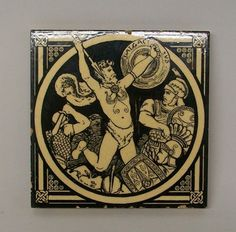 Minton pottery Caractacus tile http://on.fb.me/HUYhWI