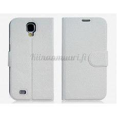 Keinonahkainen suojakotelo Samsung Galaxy S4, valkoinen