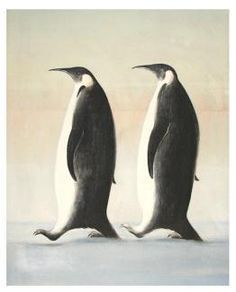 To Pingviner, Vebjørn Sand, Norway - Sand Painting, Painter Artist, Scandinavian Art, Art For Art Sake, Public Art, Beautiful Paintings, Great Artists, Illustration Art, Illustrations