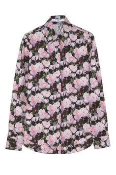 Givenchy|Floral-print cotton-poplin shirt|NET-A-PORTER.COM