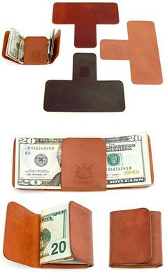 One-piece leather wallet no card slot or strap.