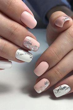 35 Simple Ideas for Wedding Nails Design - Nails - Nail Art Ideas Simple Wedding Nails, Wedding Nails Design, Simple Nails, Nail Wedding, Wedding Art, Elegant Wedding, Wedding Ideas, Nagel Blog, Foil Nails