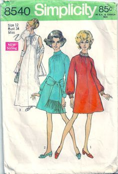 Vintage+1960s+Simplicity+Sewing+Pattern+8540+by+RanchQueenVintage