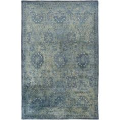 Surya MYK5015-811 Mykonos 8' x 11' Rectangle Wool Hand Tufted Traditional Area R - Blue