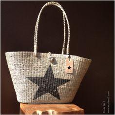 Bolso de paja con estrella en  Etoile No.5 www.etoileno5.com